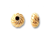 14k Gold Filled Bead Rondel twist 4.5mm 5 pack-14k gold filled-Beadthemup
