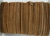 Suede 3mm Brown Per Meter-suede and faux suede-Beadthemup