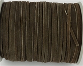 Suede 3mm Dark Brown Per Meter-suede and faux suede-Beadthemup