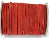 Suede 3mm Red Per Meter-suede and faux suede-Beadthemup