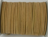 Suede 3mm Tan Per Meter-stringing-Beadthemup