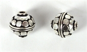 Silver Plate Copper Bead Round 12mm 2 pack-925 silver plate copper-Beadthemup