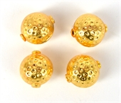 Gold Plate Copper Bead Round 14x16mm 4 pack-gold plate copper-Beadthemup
