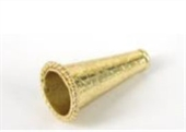 Gold plate Copper Cone 21x13mm 4 pack-gold plate copper-Beadthemup