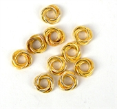 Gold Plate Copper Ring Twist 8mm 10 Pack-gold plate copper-Beadthemup