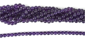 Amethyst Polished Round 6mm beads per strand 66 beads-amethyst-Beadthemup