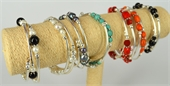 Wire Wrap KIT Bracelet Coral, Pearl, Onyx or Howlite 7 colours available-bead inspired projects-Beadthemup