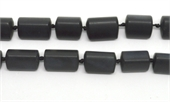 Black Jade Matt Triangle Tube app 20x15mm EACH BEAD-jade-Beadthemup