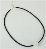 Sterling Silver beads,Silver plate clasp, Rubber & Shell based pearl 45-49cm-jewellery-Beadthemup