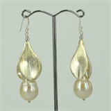 Sterling Silver Fresh Water Pearl Earrings 62mm-earrings-Beadthemup