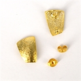 Gold plate Pewter Silver post Stud 11x15mm 1 Pair-findings-Beadthemup