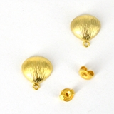 Gold plate Brass Silver post Stud 11x10mm 1 Pair-findings-Beadthemup