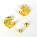 Gold Plate Brass silver post Stud 13mm 1 pair-findings-Beadthemup