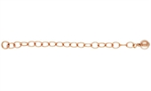 14k ROSE Gold Filled Extension Chain 5cm with 4mm round bead 2 pack-clasps, toggles and extension chain-Beadthemup