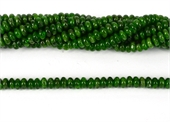 Chrome Diopside Polished rondel 5x2.5mm strand 146 beads-chrome diopside-Beadthemup