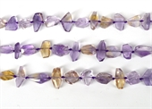 Ametrine Faceted Nugget approx 15mm Strand-ametrine-Beadthemup
