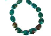 Chrysocolla A Grade Polished flat nugget approx 24-30mm EACH bead-chrysocolla-Beadthemup