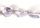 Amethyst Pink Faceted round Approx  10x7mm EACH bead-briolette shape-Beadthemup