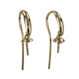 14ct Yellow Gold Sheppard+4mm Cap pair-earwires and headpins-Beadthemup