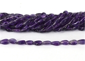 Amethyst polished mani approx 7x6mm strand app 32 beads-amethyst-Beadthemup