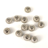 Rhodium plate CZ Rondel 11.5x6.5mm EACH-beads and spacers-Beadthemup