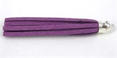 Base Metal Suede Tassel 80mm 2 pack Purple-base metal-Beadthemup