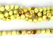 Chrysophase Lemon Faceted Round 10mm Strand 39 beads-chrysophase-Beadthemup