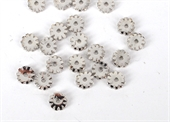 Rhodium plate CZ spacer/rondel 6mm EACH-beads and spacers-Beadthemup