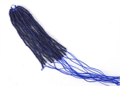 Lapis Polished 2mm 80mm 15 lines Tassel S.Silver ring-tassels-Beadthemup