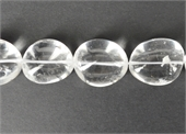 Clear quartz polished nugget 30x24mm EACH bead-clear quartz-Beadthemup
