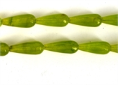 Jade Dyed Faceted Teardrop 28x11mm Olive PAIR each-jade-Beadthemup