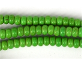 Howlite Dyed 5x8mm Rondel Green strand 79 beads-howlite-Beadthemup
