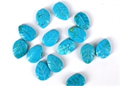 Howlite Dyed Carved Leaf 13x18mm EACH bead-howlite-Beadthemup