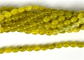 Korean Jade Polished Olive 6x8mm Strand 50 beads-jade-Beadthemup
