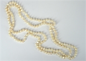 Fresh Water Pearl 8x10mm knotted necklace 165cm-jewellery-Beadthemup