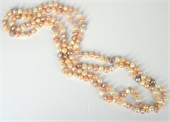 Fresh Water Pearl natural multicolour 8x10mm knotted necklace 165cm-jewellery-Beadthemup