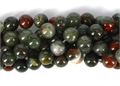 African Bloodstone Polished Round 12mm strand 33 beads-bloodstone-Beadthemup