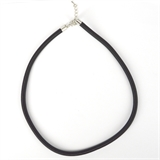 Cord Necklace 5mm Black 46-52cm long-chain and necklaces-Beadthemup