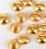 Plated Brass Gold plate Brushed Lentel bead 20mm EACH-beads and spacers-Beadthemup