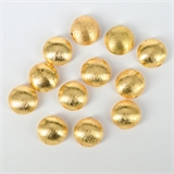 Plated Brass Gold plate Brushed Lentel bead 15mm EACH-beads and spacers-Beadthemup