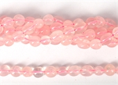 Rose Quartz polished nugget 8x10mm strand approx 40 beads-rose quartz-Beadthemup