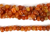 Carnelian polished side drill nugget 14x10mm strand 36 Beads-gemstone beads-Beadthemup