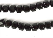 Onyx 12mm 12 sided Cube strand 34 beads-onyx-Beadthemup