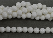 White Shell 10mm Round beads per strand 40 Beads-mother of pearl, bone and shell-Beadthemup
