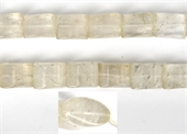 Clear quartz Pillow 19x15mm strand 20 beads-clear quartz-Beadthemup