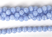 Blue Lace Agate polished round 8mm Strand 48 beads-blue lace agate-Beadthemup