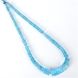 Blue Topaz Faceted Rondel Strand 5.8-13x3.85mm-blue topaz-Beadthemup
