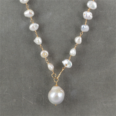 "F.W.Pearl Pendant OR ""Y"" style necklace"
