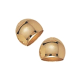 14k Gold filled cap 7x6mm 2 pack-findings-Beadthemup