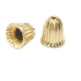 14k Gold filled corrurgated bell cap 12x12mm EACH-findings-Beadthemup